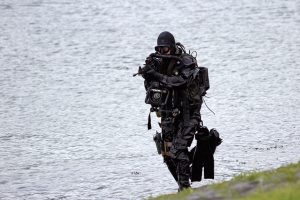 Dutch Special Forces in training exercise
