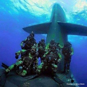 US Navy Seal Team on a submarine using Apollo Bio-Fins Split-Fins™