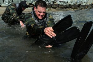 US Navy Crewman in training exercises
