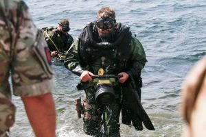 British Royal Navy Clearance Diver